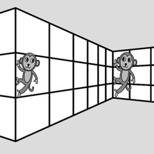 猿のだまし絵、同じ大きさ