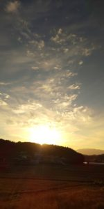 ファスティング合宿夕陽